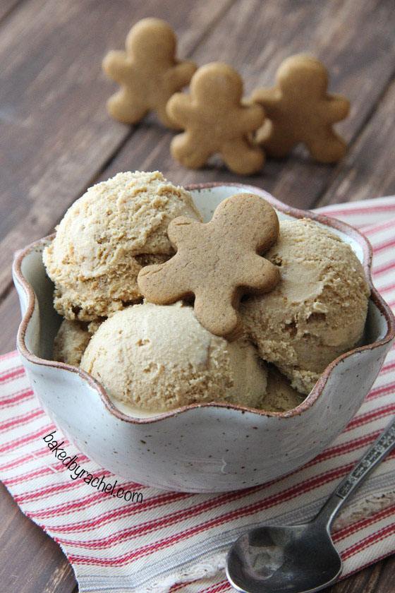 Gingerbread Cookie Crunch Ice Cream Recipe from @bakedbyrachel