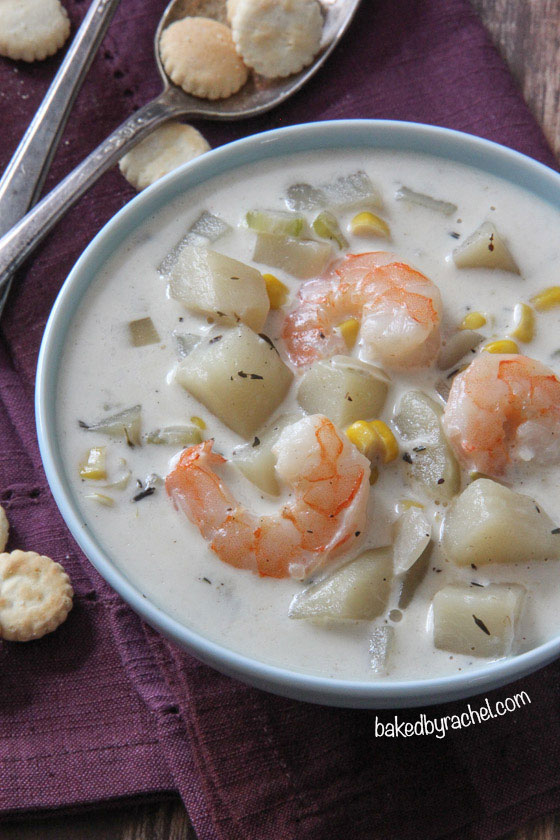 Slow cooker shrimp and corn chowder baked by rachel for Fish chowder slow cooker