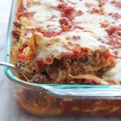 Spicy Sausage Lasagna Recipe from bakedbyrachel.com