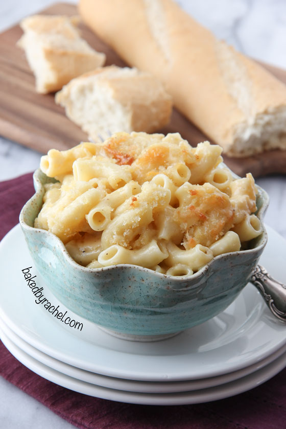Four Cheese Macaroni and Cheese Recipe from @bakedbyrachel
