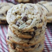 Mint Chocolate Chip Cookie Recipe from bakedbyrachel.com
