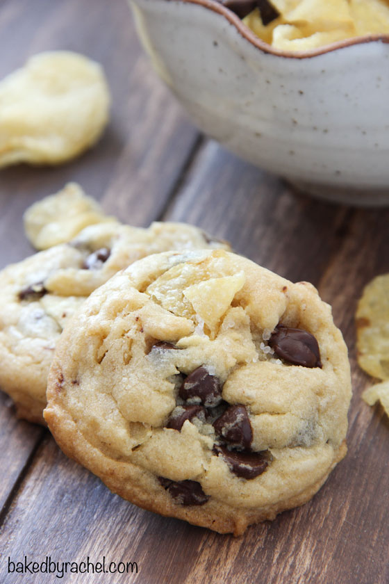 Potato Chip Cookies with Chocolate and Sea Salt Recipe from bakedbyrachel.com