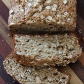 Whole Wheat Oatmeal Banana Bread Recipe from bakedbyrachel.com