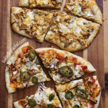 Taco Pizza: Two Ways, recipe at bakedbyrachel.com