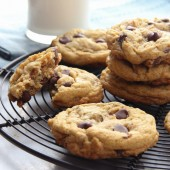 Soft batch chocolate chip carrot cake cookies from bakedbyrachel.com