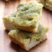 Pesto focaccia bread from bakedbyrachel.com