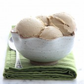Coconut-coffee ice cream from bakedbyrachel.com