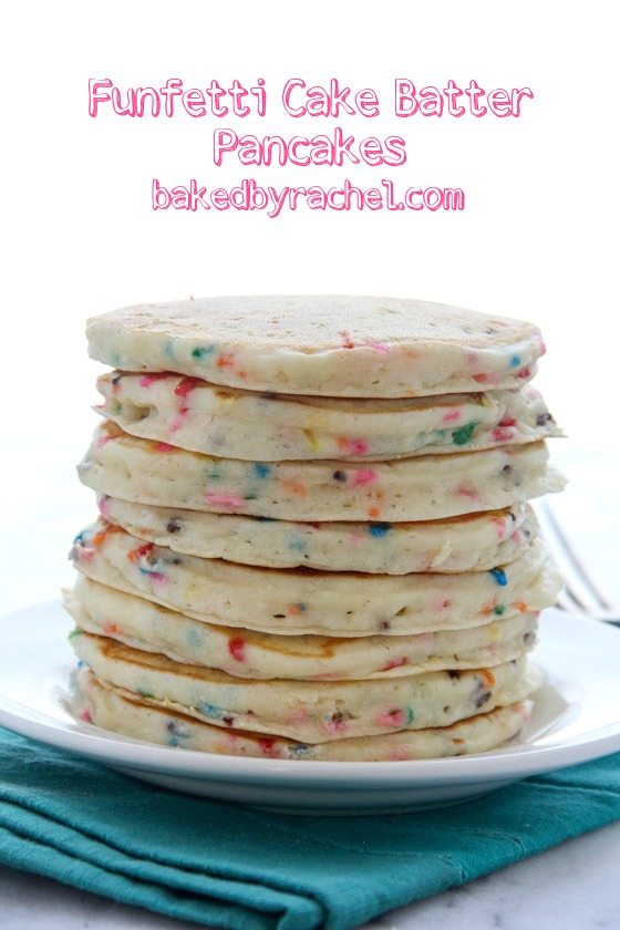 Fluffy homemade funfetti cake batter pancakes! Recipe from @ ...