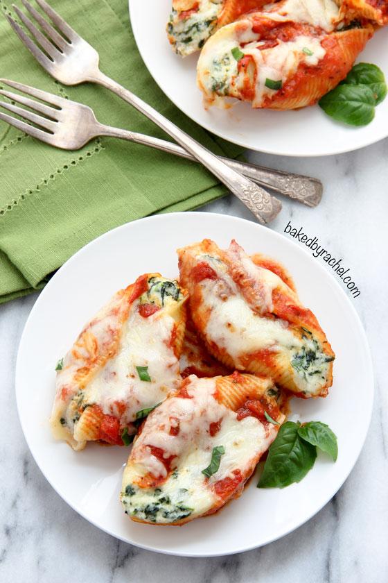 Spinach Ricotta Stuffed Shells Recipe From Atbakedbyrachel