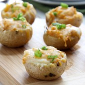 Buffalo Chicken Potato Bites Recipe from @bakedbyrachel The perfect game day snack!