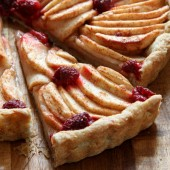 Apple raspberry tart with all butter crust recipe from @bakedbyrachel