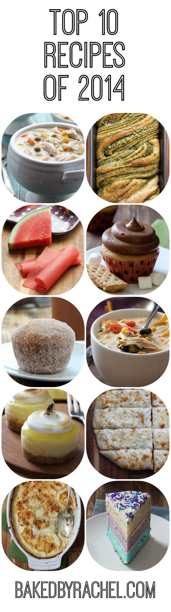 The top 10 reader favorite recipes of 2014 from bakedbyrachel.com