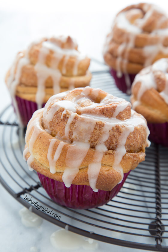 Baked By Rachel 187 Cinnamon Roll Muffins With Vanilla Glaze
