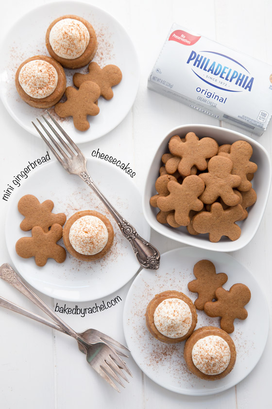 Mini gingerbread cheesecake recipe from @bakedbyrachel The perfect bite sized holiday dessert!