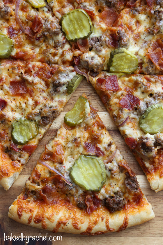 Thin Crust Bacon Cheeseburger Pizza