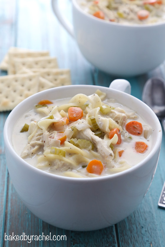 creamy chicken noodle soup crockpot recipe