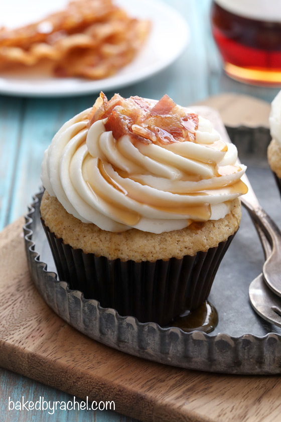 Maple Bacon French Toast Cupcakes