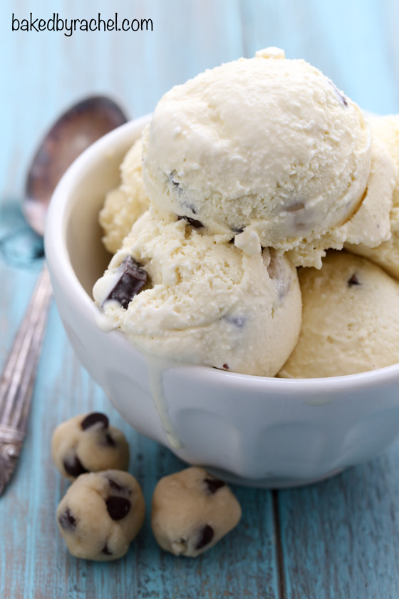 Chocolate chunk cookie dough ice cream recipe from @bakedbyrachel
