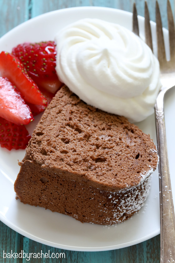 Chocolate Angel Food Cake | Baked by Rachel