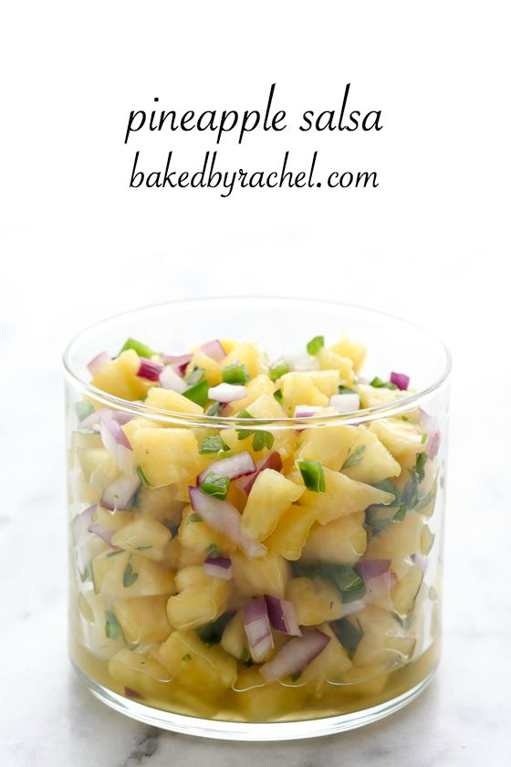 This sweet and spicy pineapple salsa is perfect on its own or paired ...