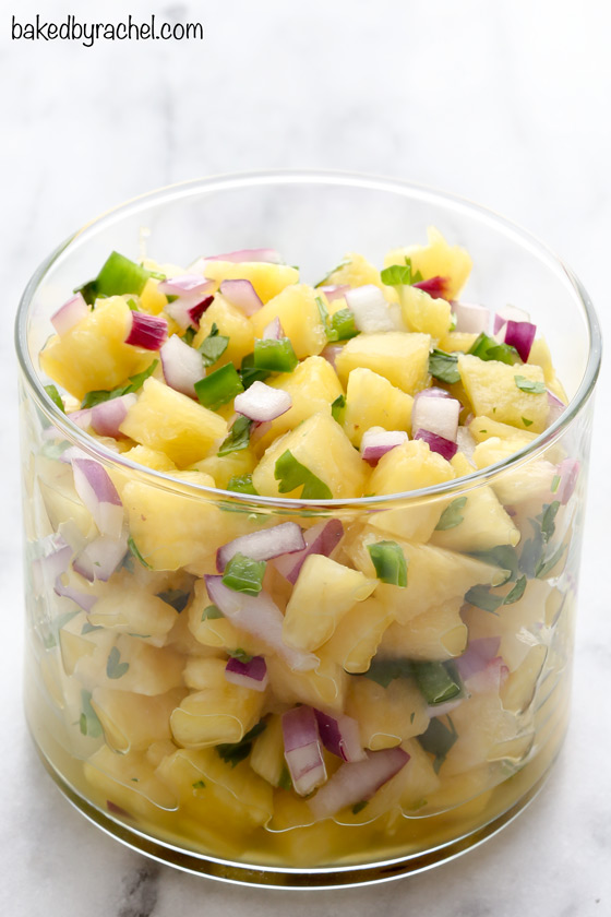 ... pineapple salsa this sweet and spicy pineapple salsa is perfect