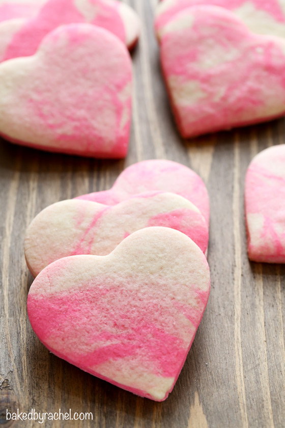 Marbled Valentine Sugar Cookies | Baked by Rachel