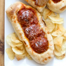 Easy sausage meatball sub recipe from @bakedbyrachel