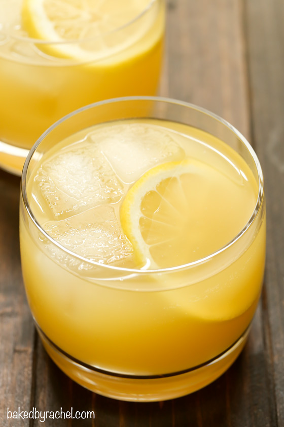 Pineapple whiskey sour baked by rachel for Mixed drink recipes by ingredient