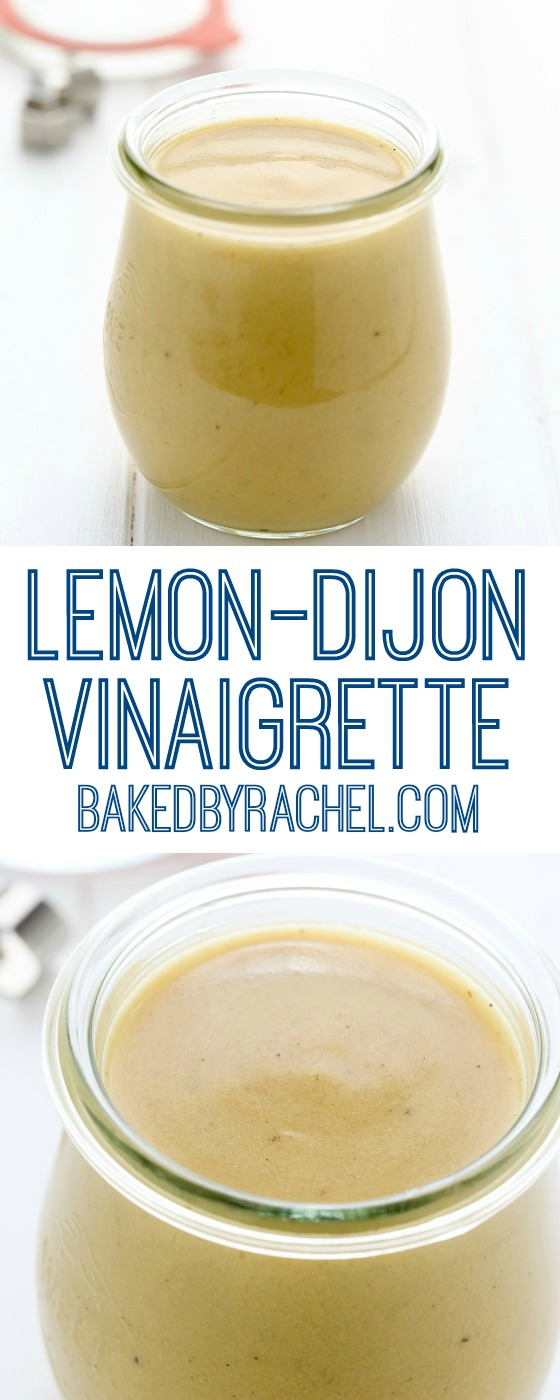 Easy homemade lemon Dijon vinaigrette recipe from @bakedbyrachel A ...
