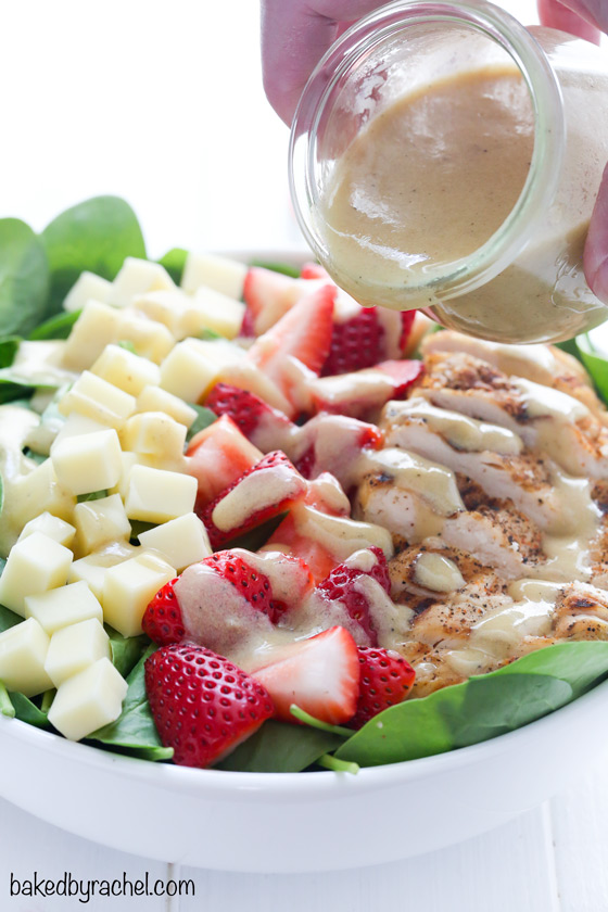 Strawberry Spinach Salad with Grilled Chicken | Baked by ...