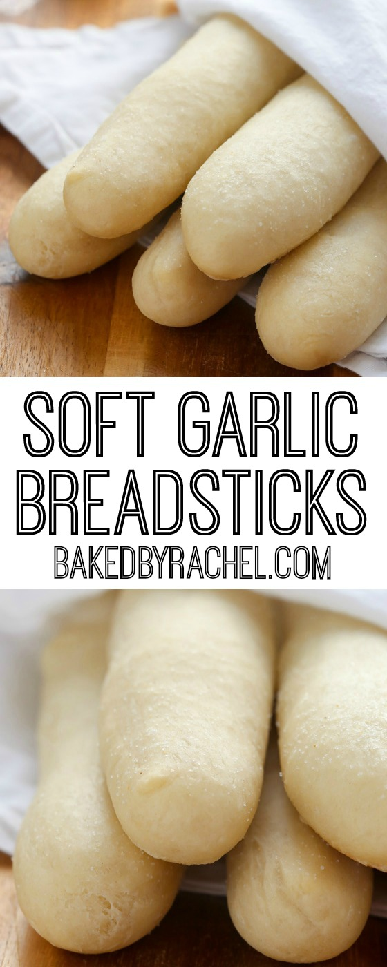 Soft Garlic Breadsticks Baked By Rachel