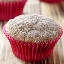 Moist homemade apple snickerdoodle muffin recipe from @bakedbyrachel