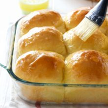 Fluffy sweet potato dinner roll recipe from @bakedbyrachel A great addition to any holiday meal!