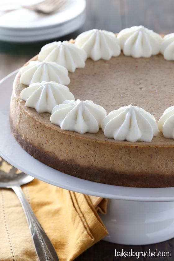 Cinnamon apple butter cheesecake recipe from @bakedbyrachel