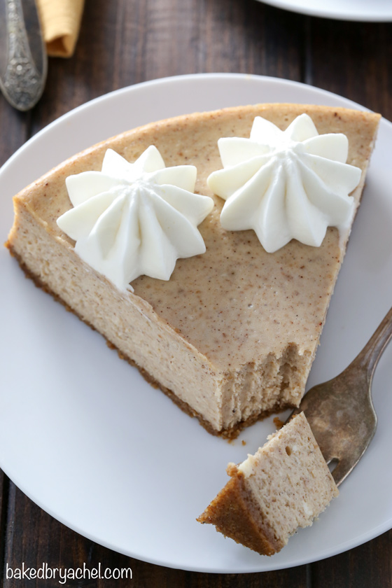 Cinnamon apple butter cheesecake recipe from @bakedbyrachel