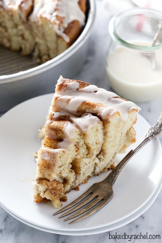 Giant-Cinnamon-Roll-Cake-Vanilla-Glaze-bakedbyrachel.com