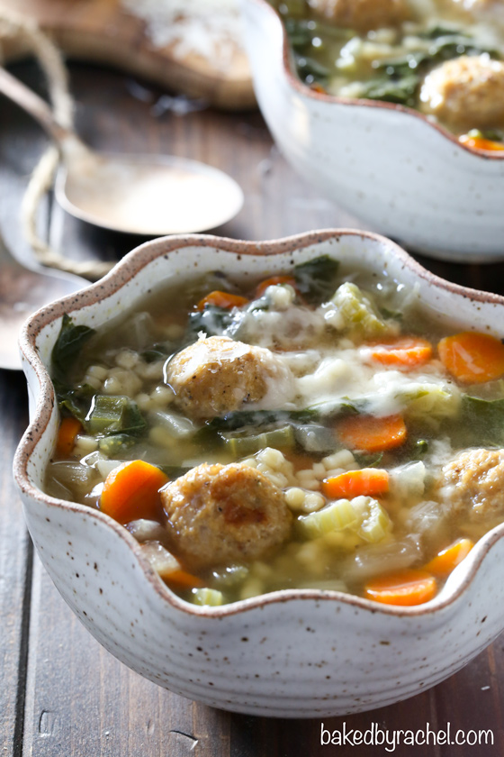 Slow Cooker Italian Wedding Soup | Baked by Rachel