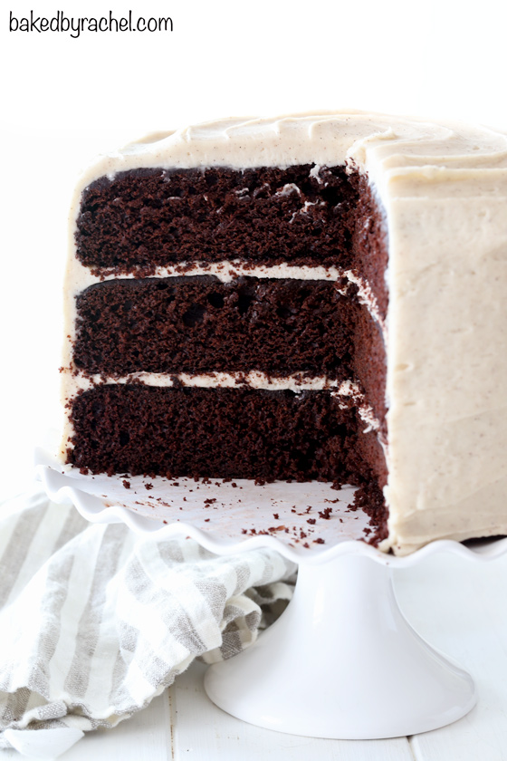 Chocolate Cake With Brown Sugar Cream Cheese Frosting