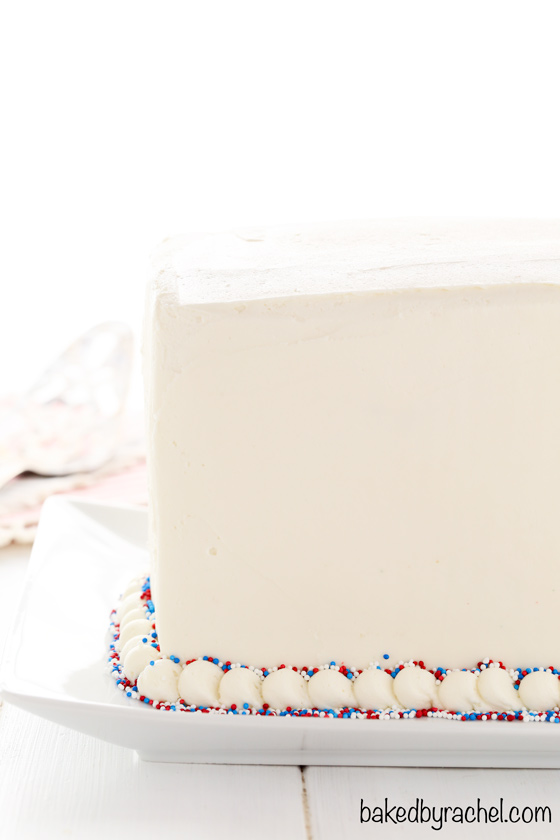 Baked By Rachel 187 Red White And Blue Marble Layer Cake