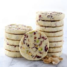 Light and flavLight and flavorful slice and bake cranberry pistachio cookie recipe from @bakedbyrachelorful cranberry pistachio cookie recipe from @bakedbyrachel