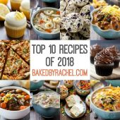 The top 10 reader favorite recipes of 2018 from bakedbyrachel.com