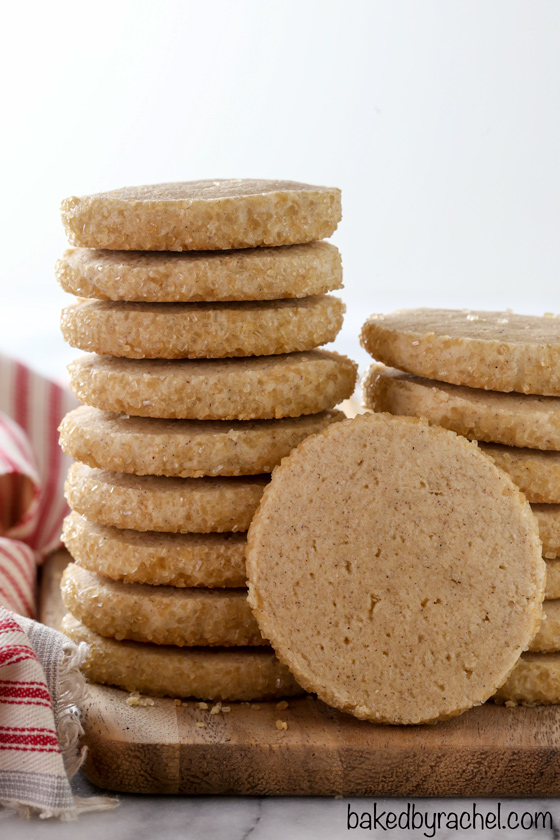 Soft and chewy cinnamon sugar slice and bake cookie recipe from @bakedbyrachel