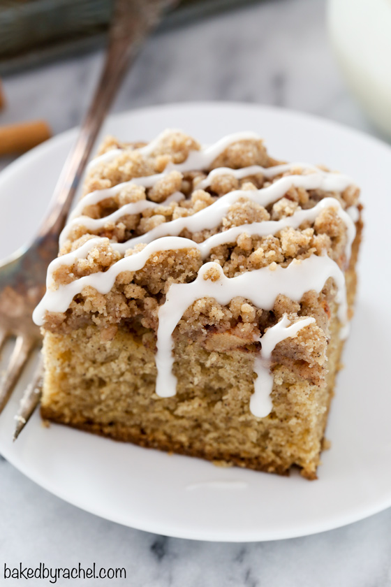 Apple Cinnamon Coffee Cake With Cinnamon Streusel Baked By Rachel