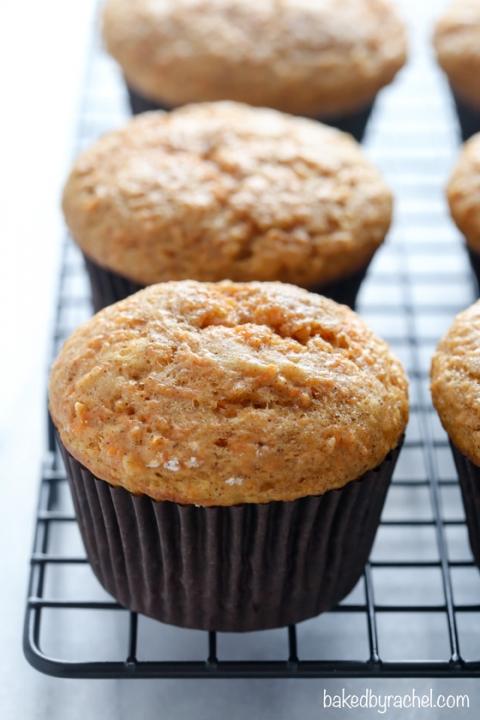 Applesauce Carrot Cake Muffins Baked By Rachel