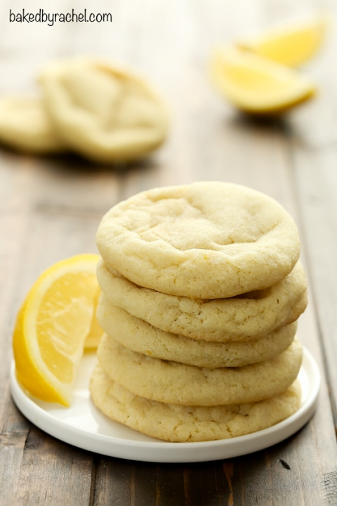 Soft And Chewy Lemon Sugar Cookies Baked By Rachel
