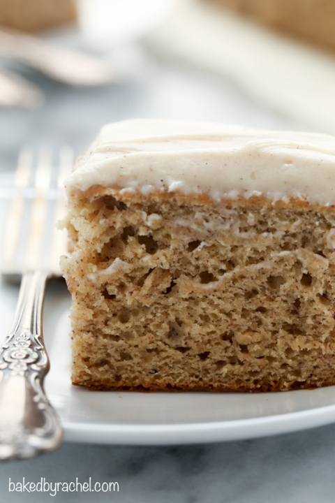 Banana Cake With Cinnamon Brown Sugar Cream Cheese Frosting Baked By Rachel