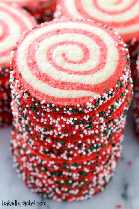 Christmas Pinwheel Sugar Cookies Baked By Rachel