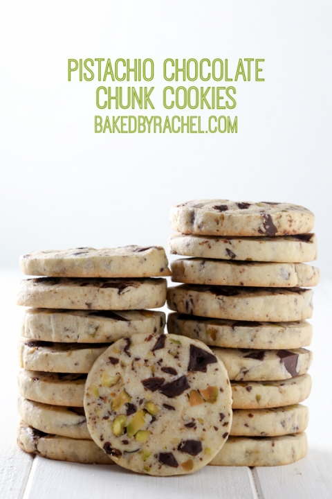 Slice and Bake Pistachio Chocolate Chunk Cookies – Baked by