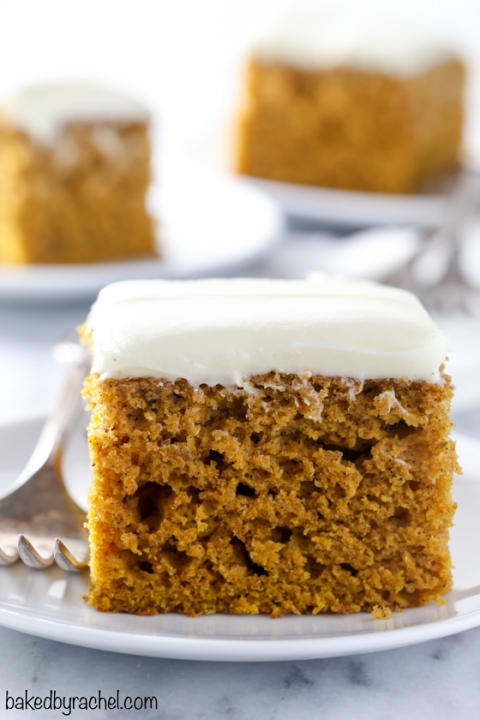 The Best Pumpkin Cake with Cream Cheese Frosting