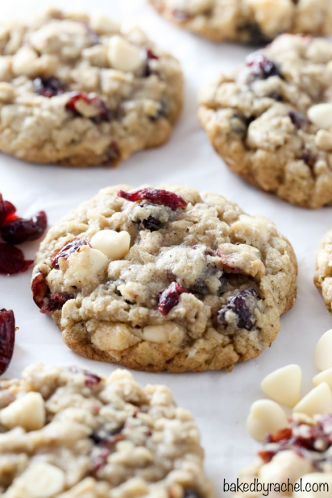 Cranberry White Chocolate Oatmeal Cookies Baked By Rachel